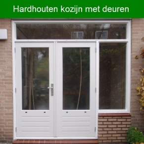 Hardhouten kozijn met deuren